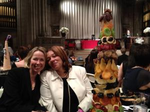 Me and Ang and the centerpiece made of dried fruit