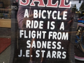 seen in a bike shop window in Portland