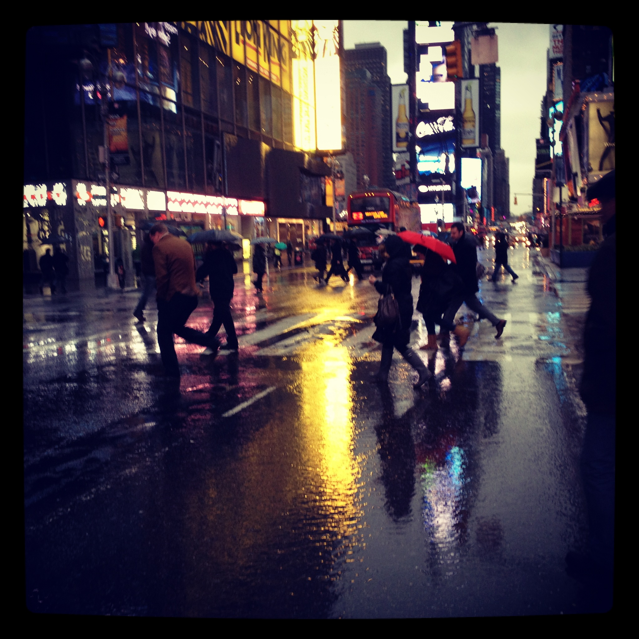 february, times square