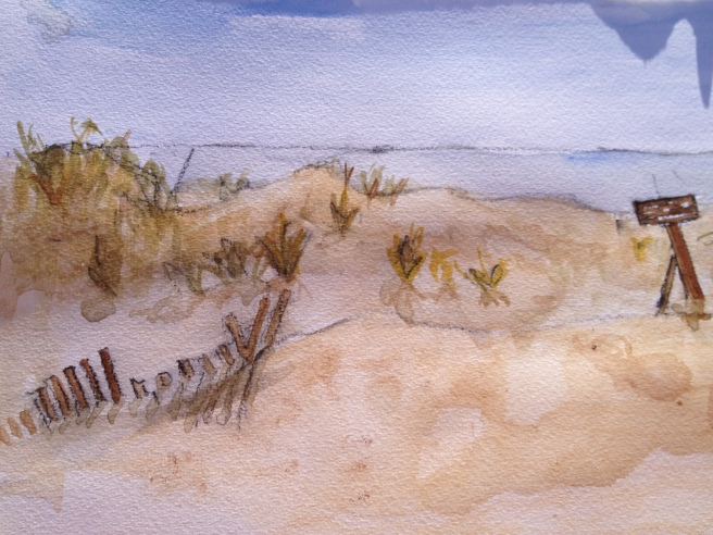may, a get-away trip to the jersey shore, painted a little