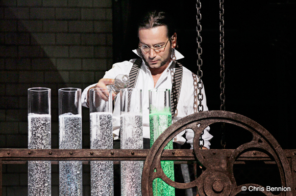 Constantine Mouralis as Dr. Jekyll (See what I mean? He's Fisher Stevens!) Photo courtesy of Jekyll and Hyde.