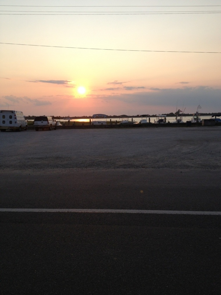 Every night the sun sets on Barnegat Light.