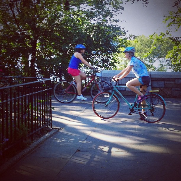 Earlier this summer, Cat and I were biking in Riverside Park