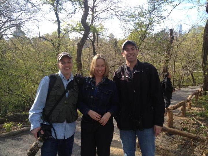 Charlie and I bumped into fellow birder Andy in the fall.