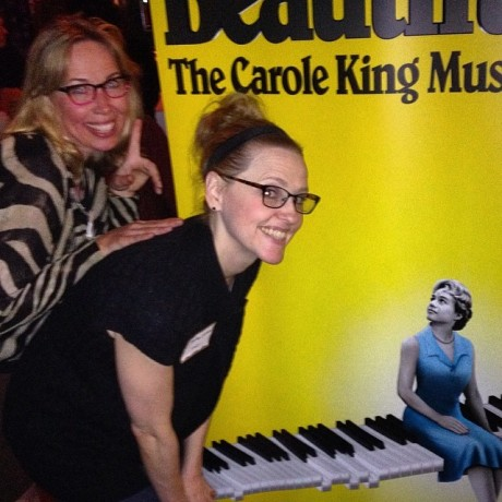 Mary Beth Coudal, blogger, and Anika Larsen, who plays Cynthia Wiel in Beautiful.