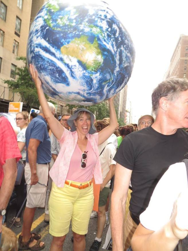 Me at the Climate March. (photo credz Pamela Cooper)