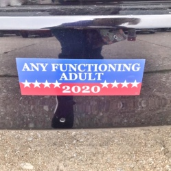 bumper sticker spotted in long island